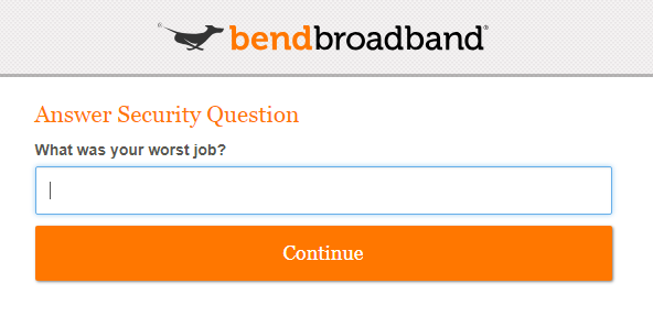 Answer security question Screenshot