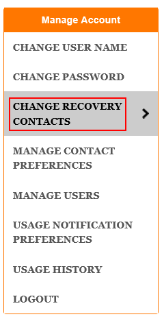 Change recovery contacts