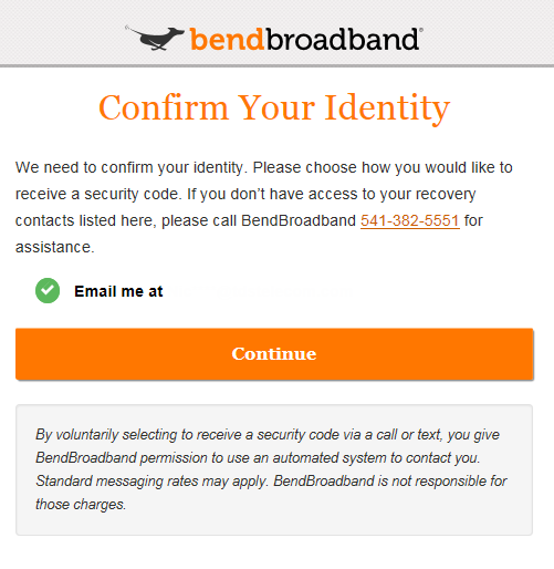 Confirm your identity Screenshot