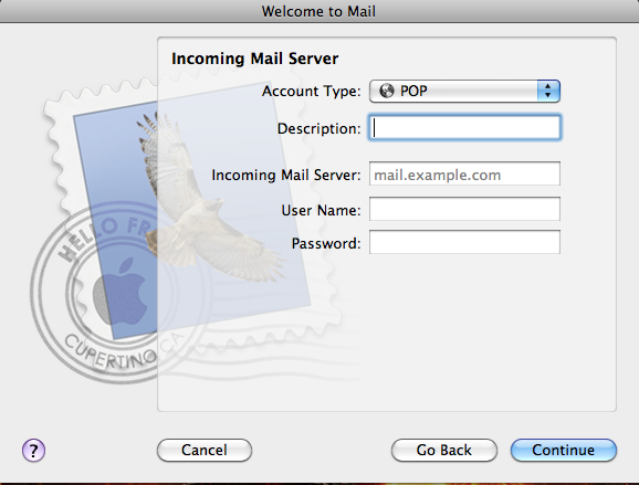 Mac Mail Incoming Mail Server Screenshot