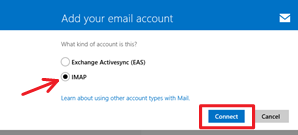 Microsoft Mail for Windows 8/8.1 Add your email account