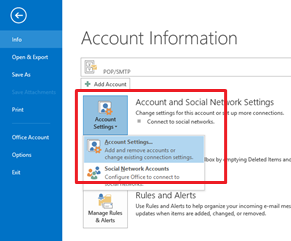 Microsoft 2013 Account Information