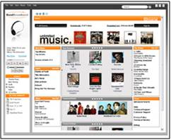 Screenshot of BendBroadband music