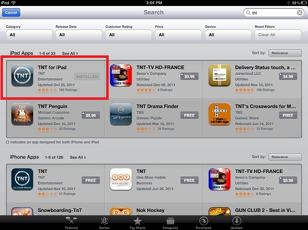 iPad or iPhone App Store