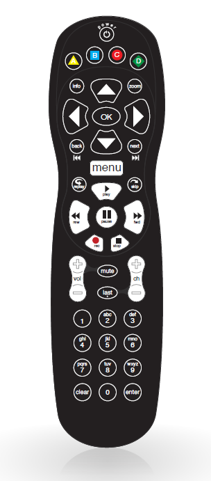 Alpha TV Remote Control