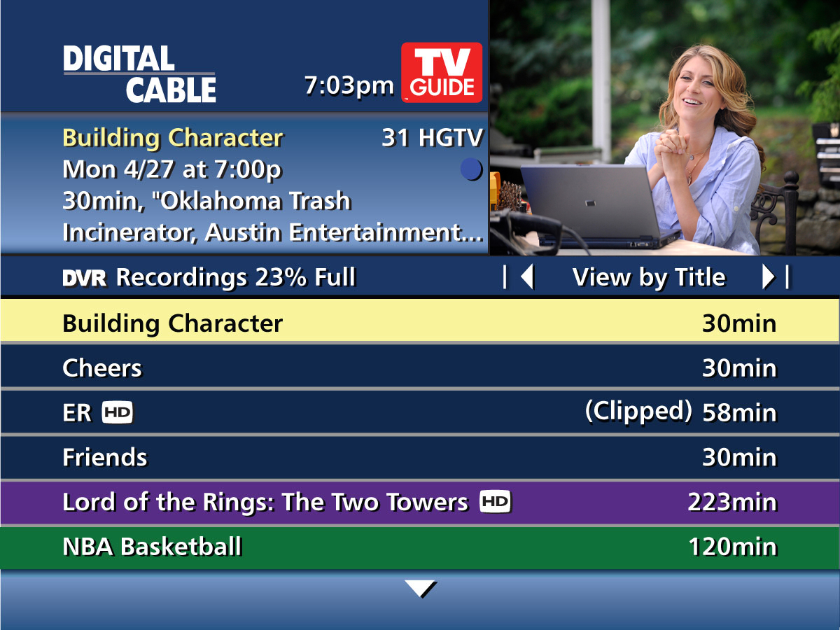 TV Guide Channel Listing