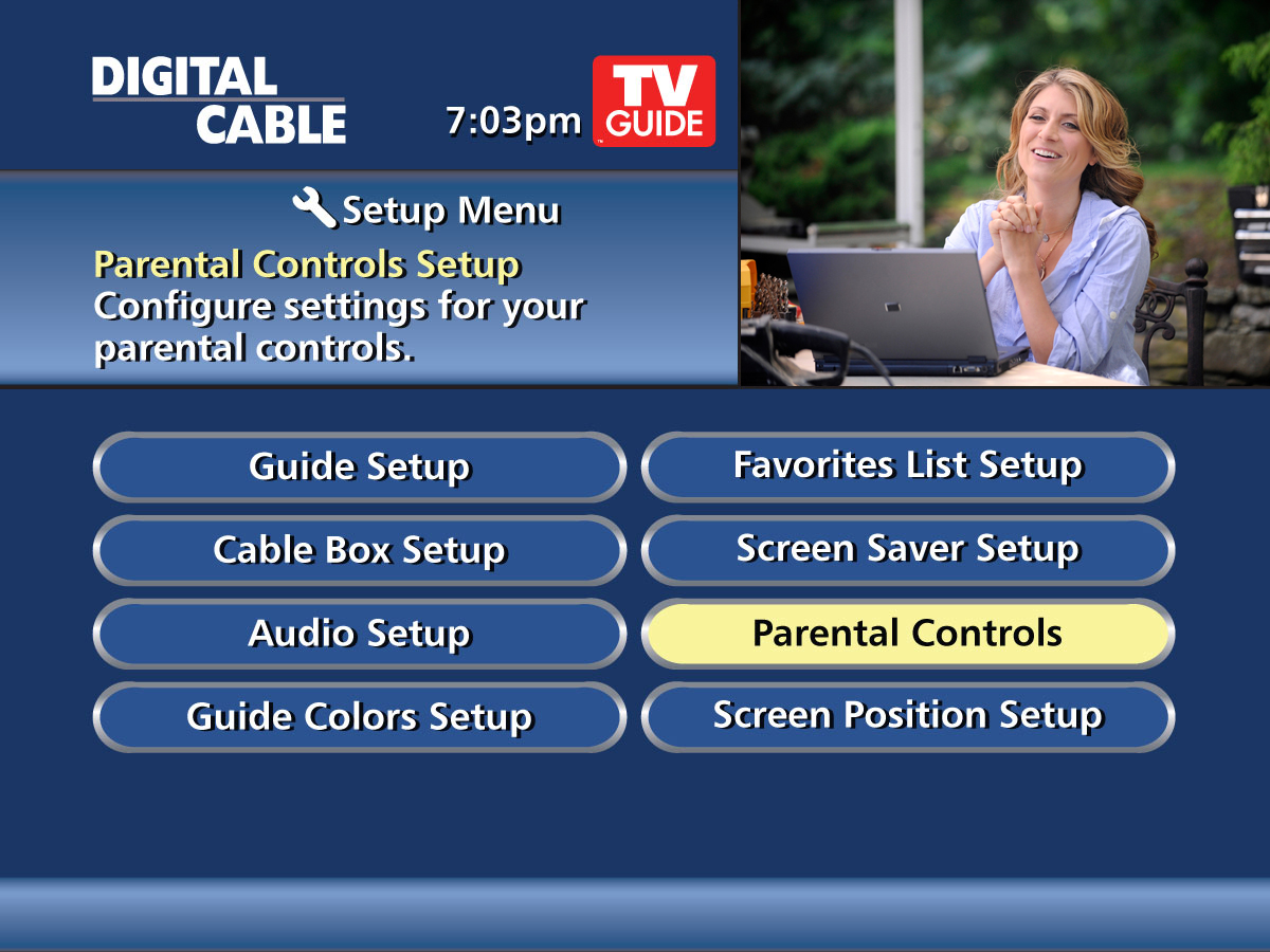 i-Guide Parental Controls screen
