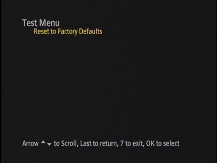 Test Menu Screenshot
