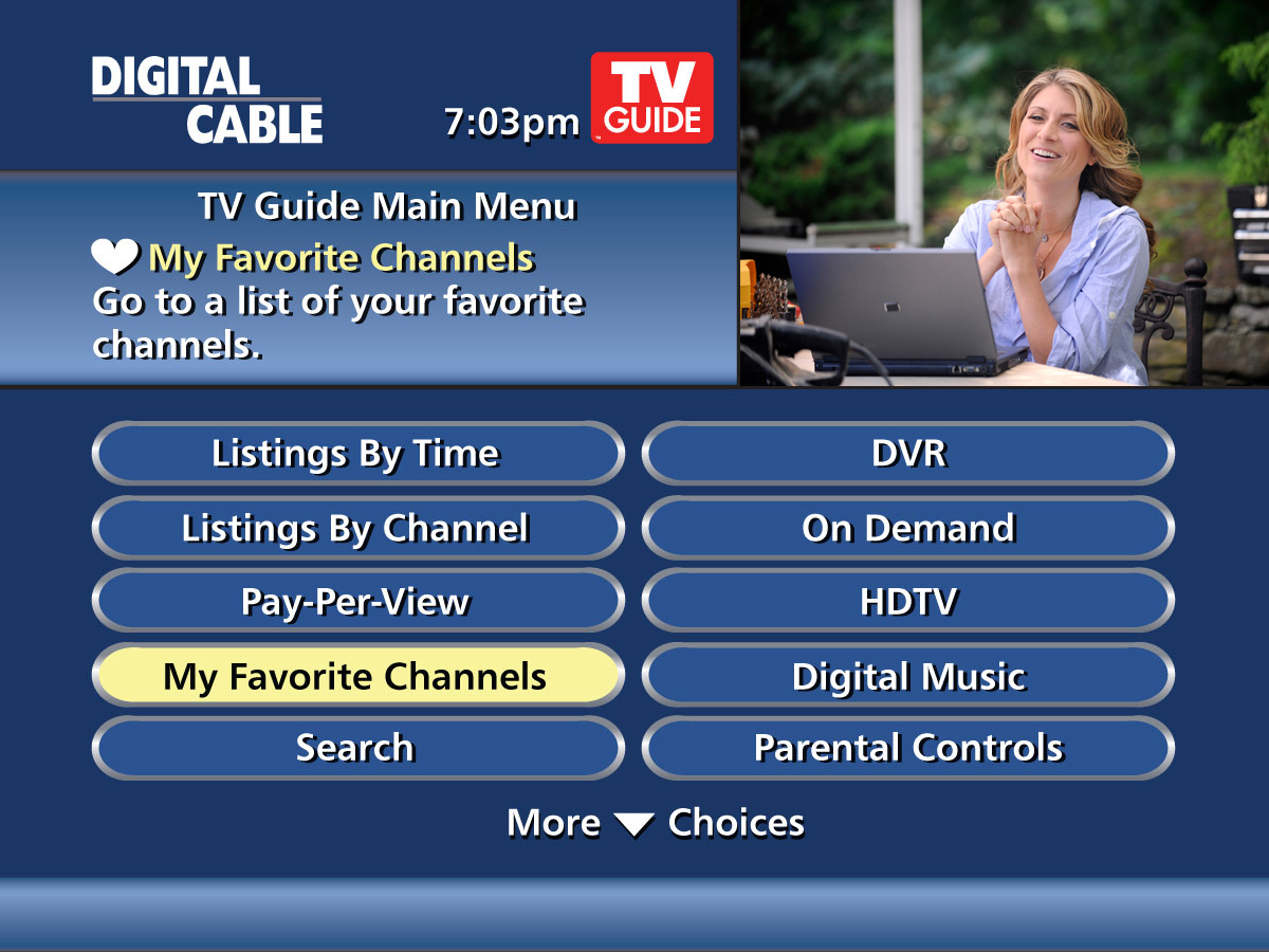 TV Guide Main Menu Screenshot